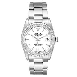 Rolex DateJust White Dial Oyster Bracelet Steel Mens Watch 16220