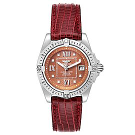 Breitling Windrider Cockpit Diamond Dial Ladies Watch A71356