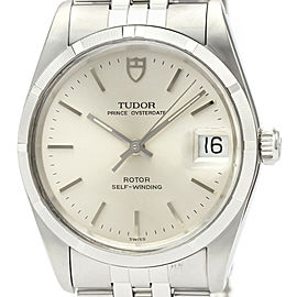 Polished TUDOR Prince Oyster Date Steel Automatic Mens Watch 74010