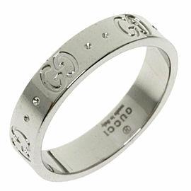 GUCCI 18K White Gold Icon Ring TNN-1998
