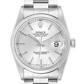 Rolex Datejust Silver Dial Oyster Bracelet Steel Mens Watch 16200