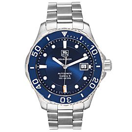 Tag Heuer Aquaracer Calibre 5 500M Blue Dial Steel Mens Watch WAN2111