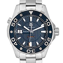 Tag Heuer Aquaracer Blue Dial Steel Mens Watch WAJ2112 Box Card
