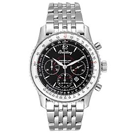 Breitling Navitimer Montbrilliant Black Dial Steel Mens Watch A41330