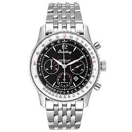 Breitling Navitimer Montbrilliant Black Dial Steel Mens Watch A41330