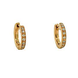 Penny Preville 18K Rose Gold & Diamond Huggie Earrings