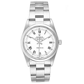 Rolex Air King 34mm White Dial Domed Bezel Mens Watch 14000