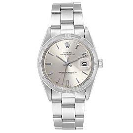 Rolex Date Vintage Silver Dial Oyster Bracelet Steel Mens Watch 1501