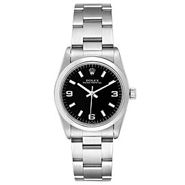 Rolex Midsize 31mm Black Dial Automatic Steel Ladies Watch 67480