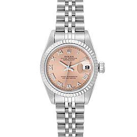 Rolex Datejust 26 Steel White Gold Salmon Dial Ladies Watch 69174