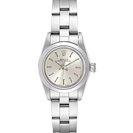 Rolex Oyster Perpetual Silver Dial Steel Ladies Watch 67180