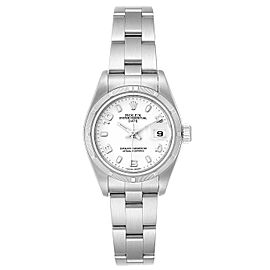 Rolex Date White Dial Oyster Bracelet Steel Ladies Watch 79190