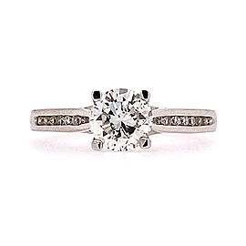 Ritani 1RZ2487CRWG-65 18k White Gold Diamond Ring