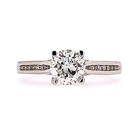 Ritani 1RZ2487CRWG-65 18k White Gold Diamond Ring