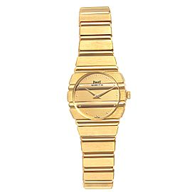 Piaget Polo 18K Yellow Gold Champagne Dial Quartz Ladies Watch C701