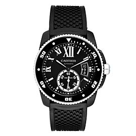 Cartier Calibre Divers Black ADLC Mens Watch WSCA0006