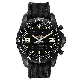 Breitling Chronospace Military GMT Alarm Blacksteel Mens Watch M78366