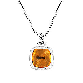 David Yurman 925 Sterling Silver with Citrine & Diamonds Albion Pendant Necklace