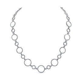 Jack Kelege Platinum Diamond Necklace