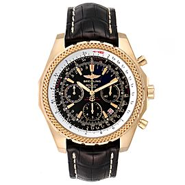 Breitling Bentley Yellow Gold Black Dial Chronograph Watch K25362