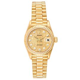 Rolex President Datejust Yellow Gold Diamond Dial Ladies Watch 79178