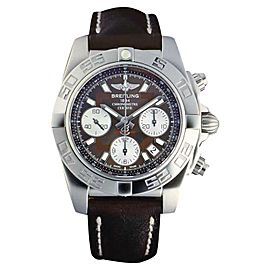 Breitling Chronomat AB014012-Q583 Stainless Steel & Leather 41mm Watch