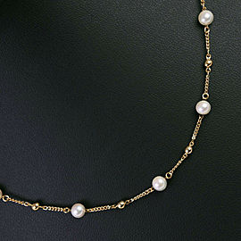 18k yellow gold/Pearl Pearl Necklace