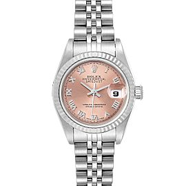 Rolex Datejust 26 Steel White Gold Salmon Dial Ladies Watch 79174