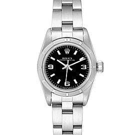 Rolex Oyster Perpetual Black Dial Oyster Bracelet Ladies Watch 67230