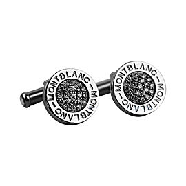 Montblanc Stainless Steel & 0.55ct Diamond Cufflinks