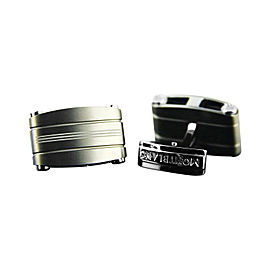 Montblanc Stainless Steel & Titanium Rectangular Cufflinks