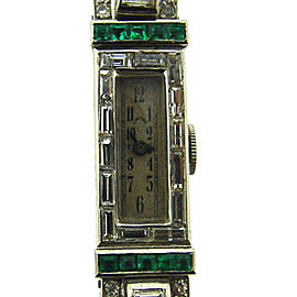 Cartier Art Deco Antique Diamond and Platinum Watch