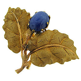 Lovely Mario Buccellati Sapphire & Yellow Gold Pin