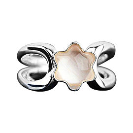 Montblanc Sterling Silver & Rose Quartz Star Collection Ring
