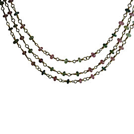Temple St. Clair 18K Yellow Gold Pink & Green Tourmaline Necklace