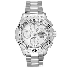Tag Heuer Aquaracer Silver Dial Chronograph Mens Watch CAF2011