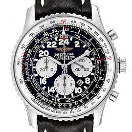Breitling Navitimer Cosmonaute Black Dial Steel Mens Watch A22322