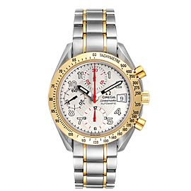 Omega Speedmaster Steel Yellow Gold Automatic Mens Watch 3313.33.00