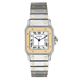 Cartier Santos Galbee 29mm Steel Yellow Gold Mens Watch 187901