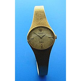 Rolex Geneve Cellini 18K 750 Yellow Gold Womens Watch
