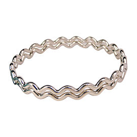 Tiffany & Co. Pair Paloma Picasso Sterling Silver Zig Zag Wave Bracelets