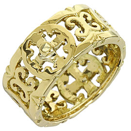 Loree Rodkin 18K Yellow Gold Cross Design Band Ring Size 4.5