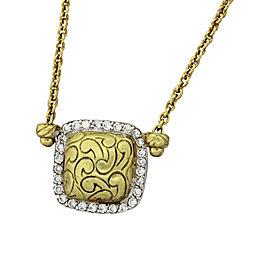 MDVIAN 18k Yellow Gold 0.55 Ct Diamond Vintage Pendant Necklace