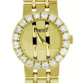 Piaget 8286 K 51 18K Yellow Gold wDiamond Quartz 21mm Womens Watch