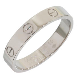 Cartier Mini Love 18K White Gold Ring Size 9