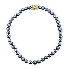 Mikimoto 18K Yellow Gold, Diamond & Tahitian Pearl Strand Necklace