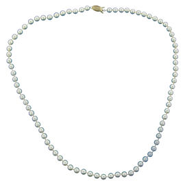 Mikimoto 14K Yellow Gold Cultured Essence Pearl Bead Strand and Necklace