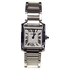 Cartier Tank Francaise 18K White Gold 20.5mm Womens Watch