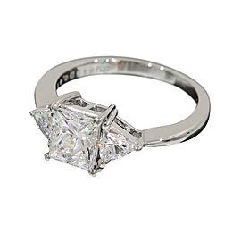 Mikimoto Platinum 950 1.01ct & 0.41ct Diamonds Ring Size 4.75