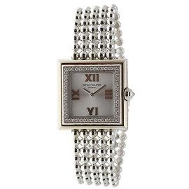 Patek Philippe Gondolo 4869G-001 18K White Gold wDiamond Silver Dial Quartz 27mm Womens Watch